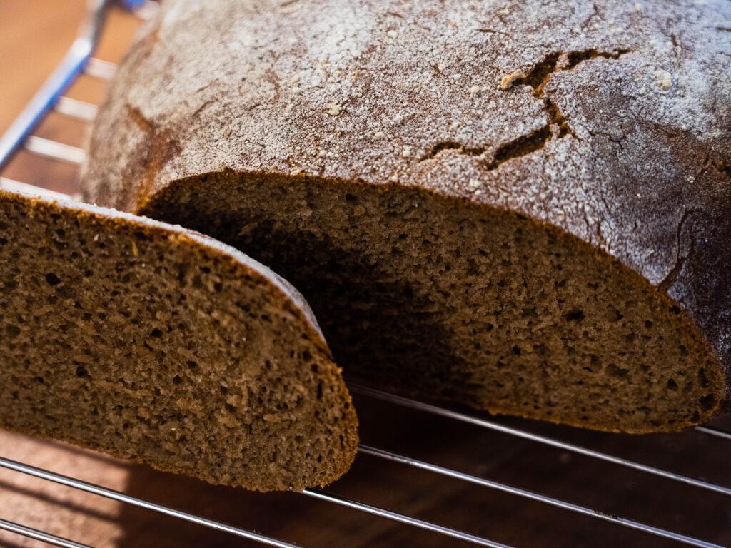 pane di segale integrale lievito madre